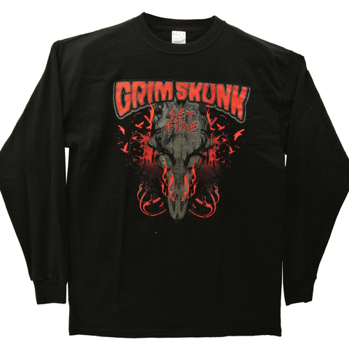 GrimSkunk - Long sleeve shirt - Set Fire